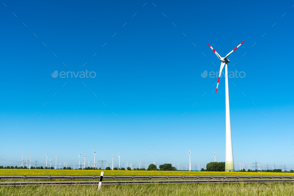Renewable energy plants seen in Germany - Stock Photo - Images