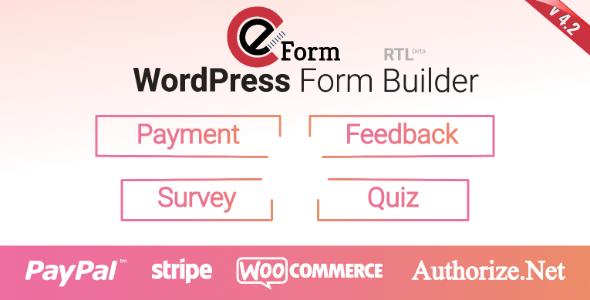 Eform Wordpress Form Builder By Wpquark Codecanyon