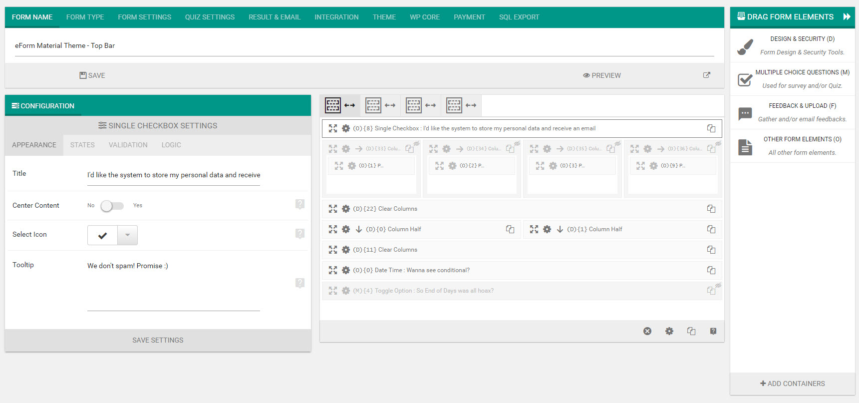 Eform wordpress form builder by wpquark codecanyon screenshots09 form builderg falaconquin