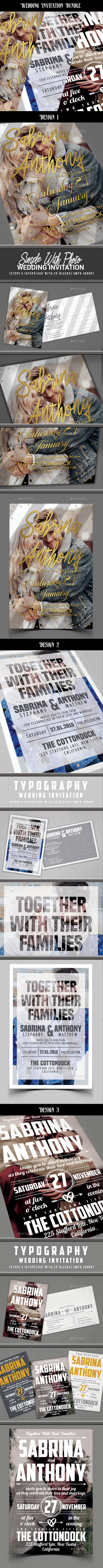 Wedding Invitation Bundle - Invitations Cards & Invites