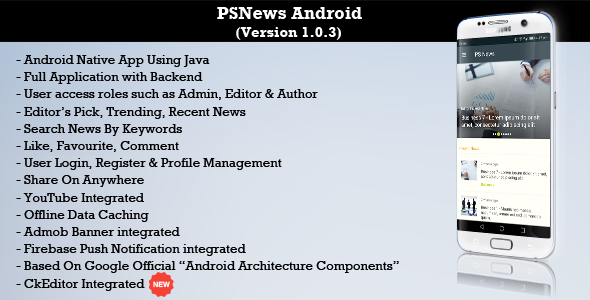 PSNews (Multipurpose Android News Application) - CodeCanyon Item for Sale