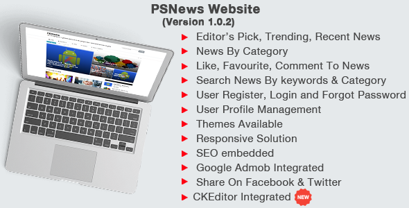 PSNews Website (Same Backend with Mobile Apps) - CodeCanyon Item for Sale