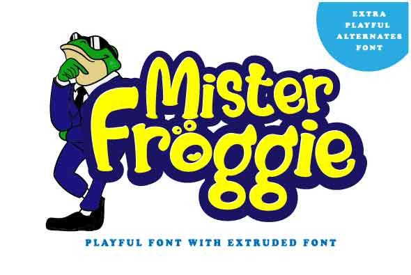 Mister Froggie - Comic Decorative