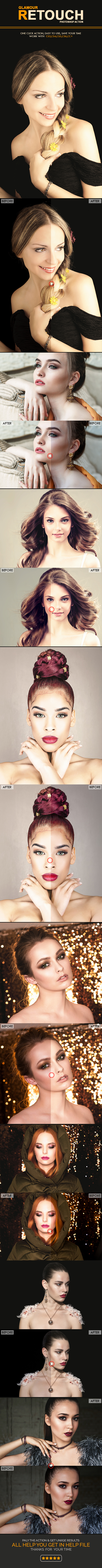 Glamour Retouch Photoshop Action - Photo Effects Actions