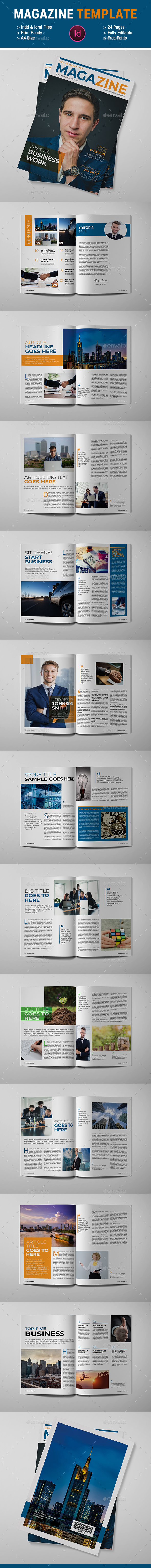 Business Magazine Template - Magazines Print Templates