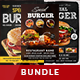 Burger Steak Flyer Bundle