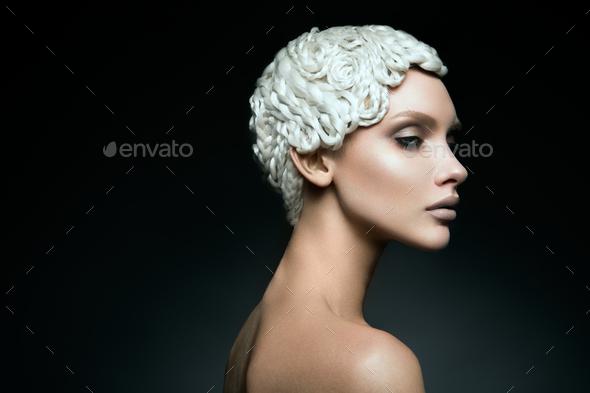 Fashion art make up woman face - Stock Photo - Images