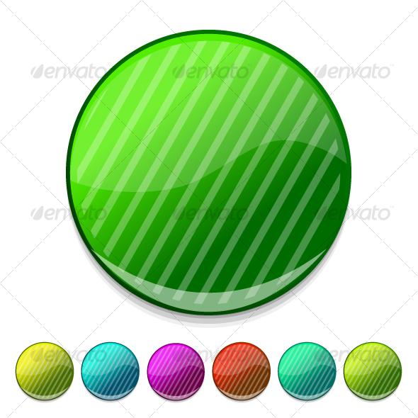 Glossy buttons - Decorative Symbols Decorative