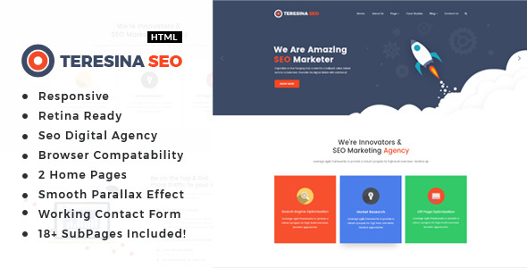 Teresina - Digital Marketing HTML Template