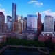 Flying over South Cove, Battery Park City, Lower Manhattan Financial District Skyscrapers Skyline - VideoHive Item for Sale