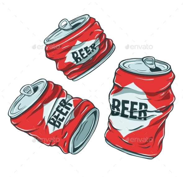 Beer Cans on White - Miscellaneous Vectors