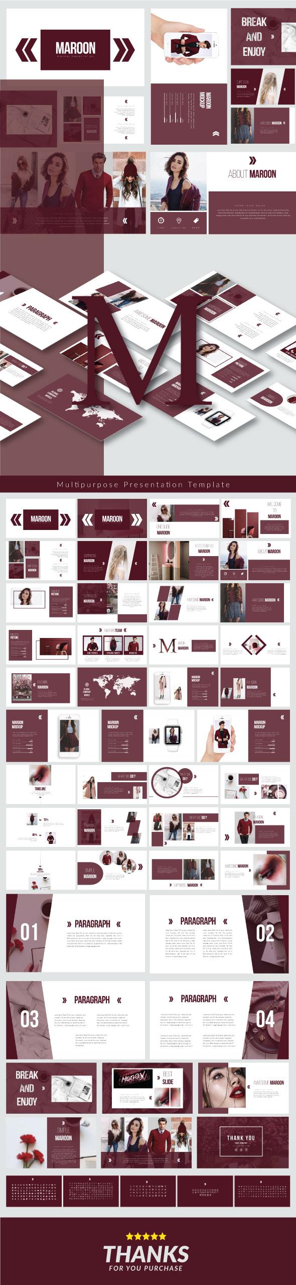 Maroon - Keynote Presentation Templates - Keynote Templates Presentation Templates