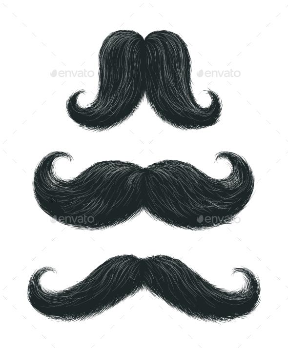Comic Mustache Set - Miscellaneous Vectors