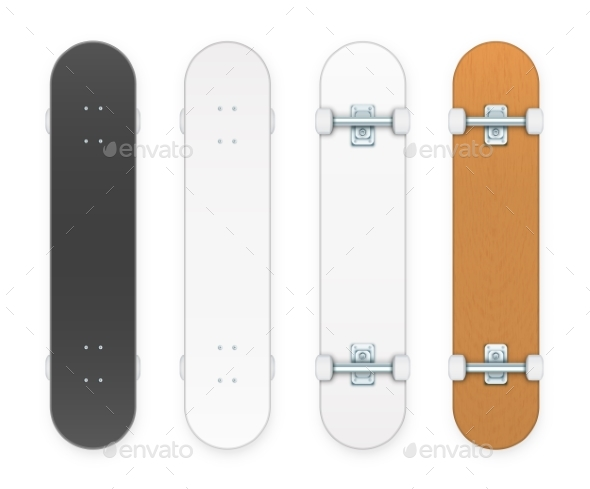 Vector Skateboards Set - Man-made Objects Objects