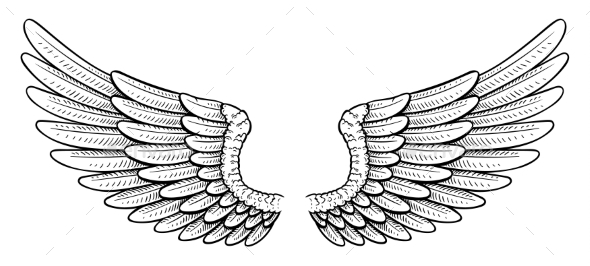 Tattoo Style Wings - Miscellaneous Vectors