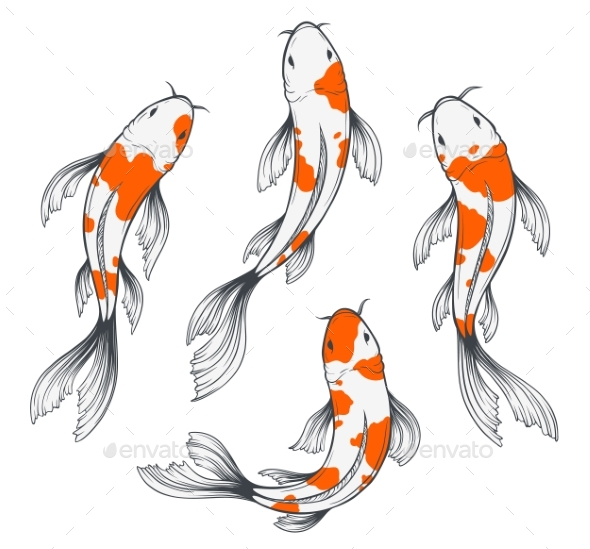 Koi Fish Set - Animals Characters