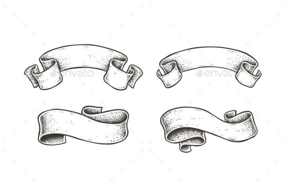 Vector Dotwork Ribbons - Miscellaneous Vectors