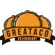 Taco Food Emblem Logo