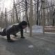 Strong Man Training Push Ups and Crossfit Exercise on Winter Sports Ground - VideoHive Item for Sale
