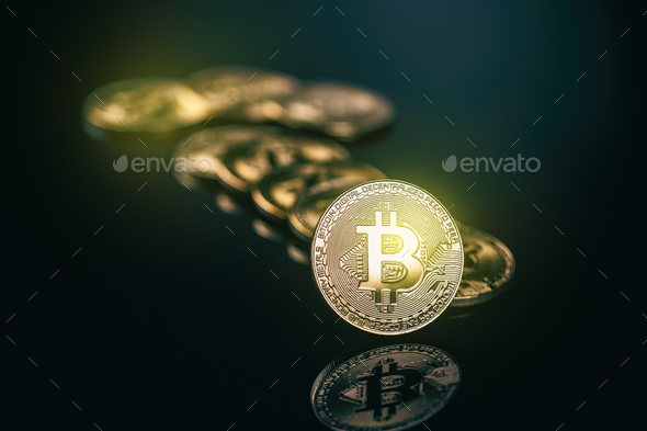Virtual cryptocurrency concept. - Stock Photo - Images