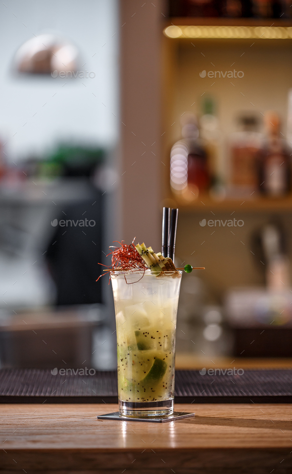 Lime and kiwi cocktail - Stock Photo - Images
