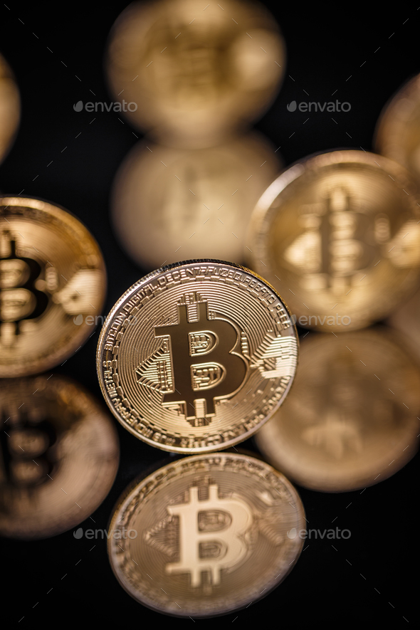 Virtual  currency bitcoin - Stock Photo - Images