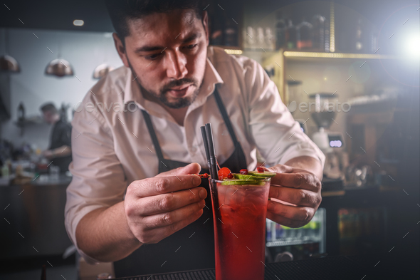 Bartender at work - Stock Photo - Images