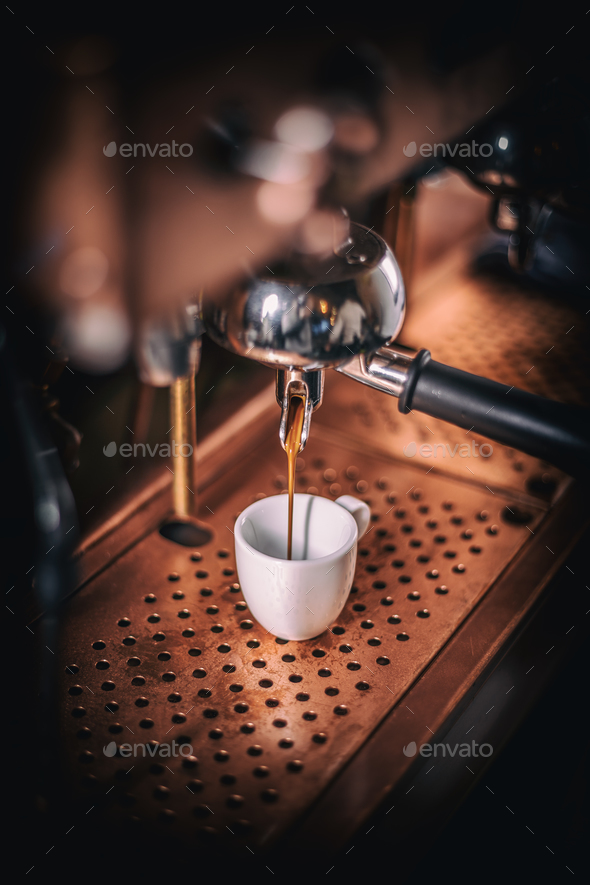 Professional espresso machine - Stock Photo - Images