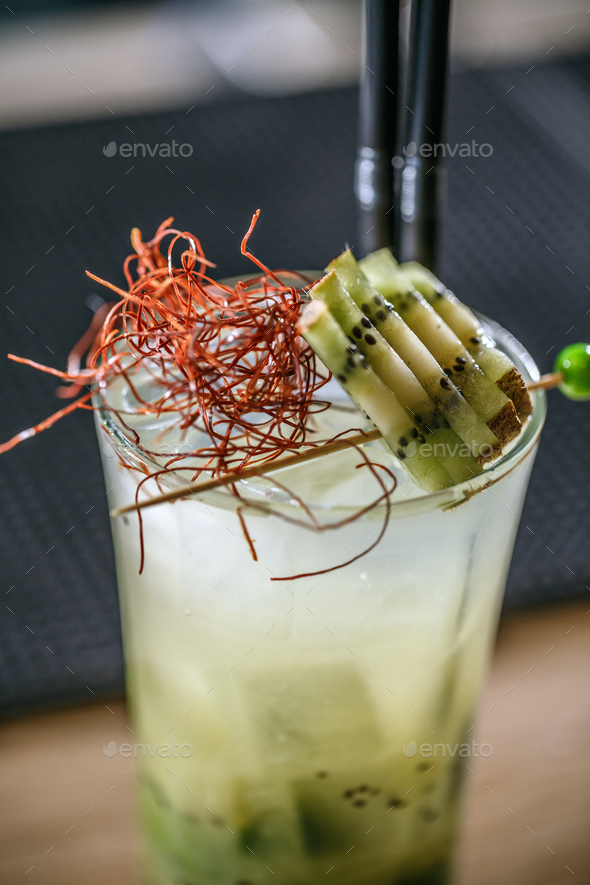 Kiwi and lime cocktail - Stock Photo - Images