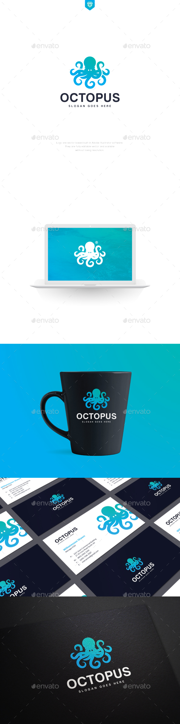 Octopus Logo Template - Animals Logo Templates