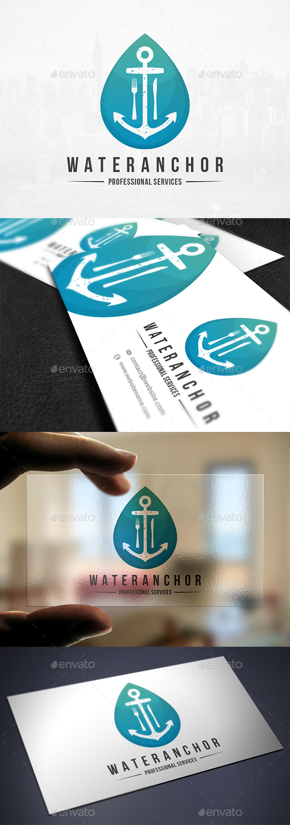 Anchor Water Bar Logo - Objects Logo Templates