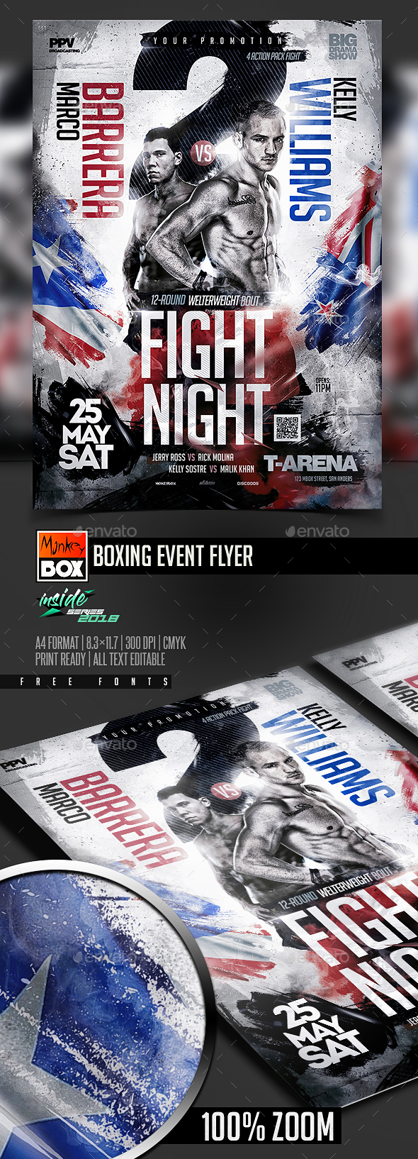 Boxing Event Flyer - Sports Events