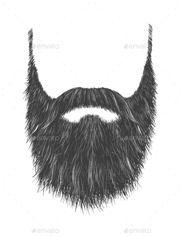 Long Gray Beard - Miscellaneous Vectors