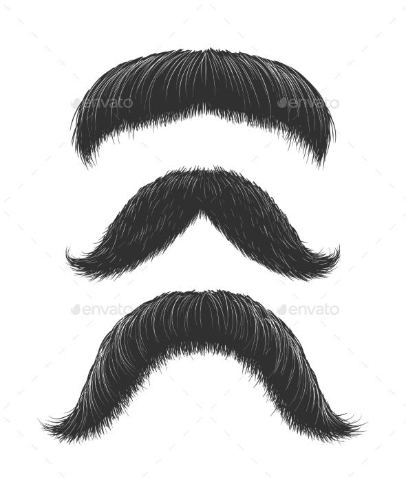Comic Mustaches Set - Miscellaneous Vectors