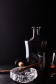 Glass of whiskey with smoking cigar. - PhotoDune Item for Sale