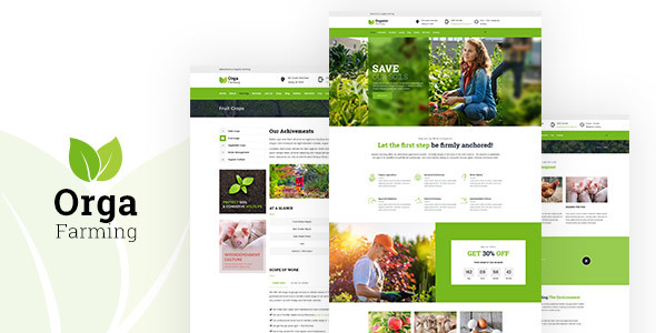 Image of Orga Farm - Organic Food, Organic Farm WordPress Theme