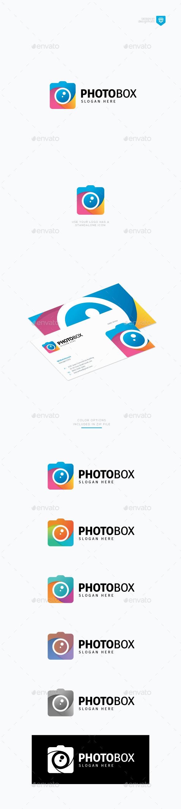 Photo Box Logo - Vector Abstract