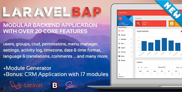 Laravel-BAP Modular Backend Application Platform + Example CRM with 17 modules Free Download | Nulled