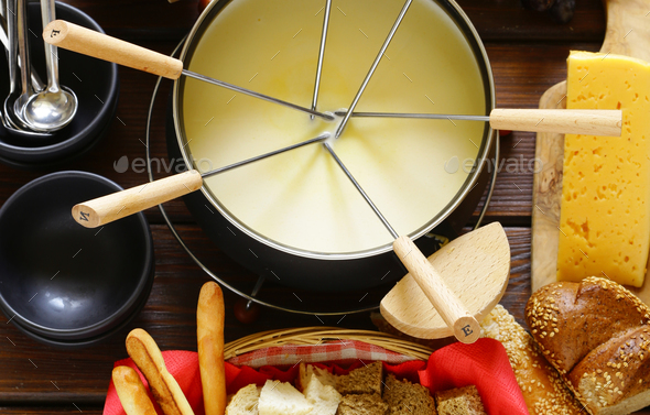 Cheese Fondue - Stock Photo - Images