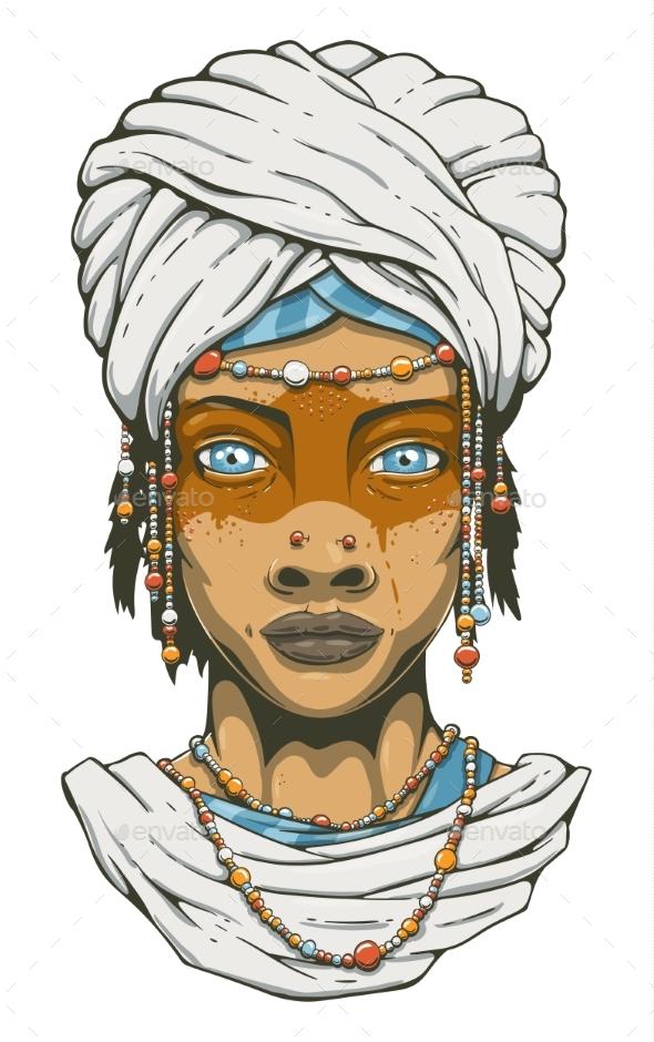 Woman in Turban - People Characters