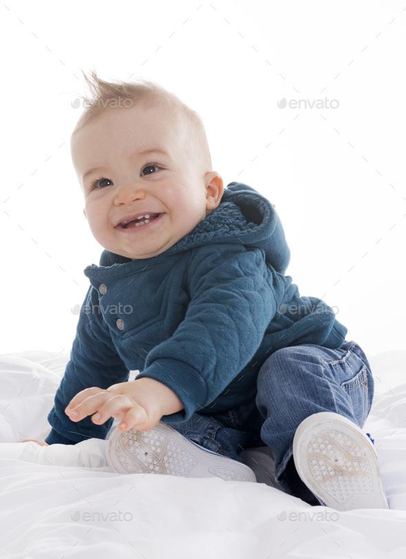 baby in studio - Stock Photo - Images