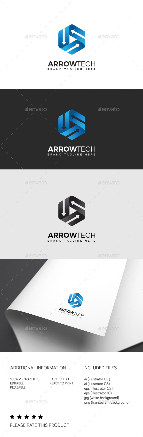 Arrow Tech - Abstract Logo Templates