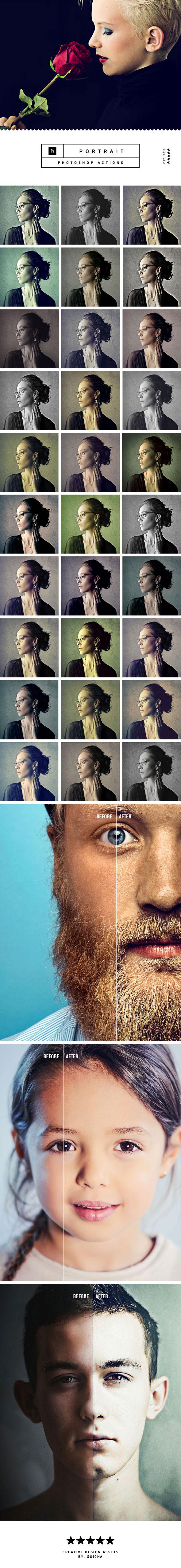 Portrait Photoshop Actions - Photo Effects Actions