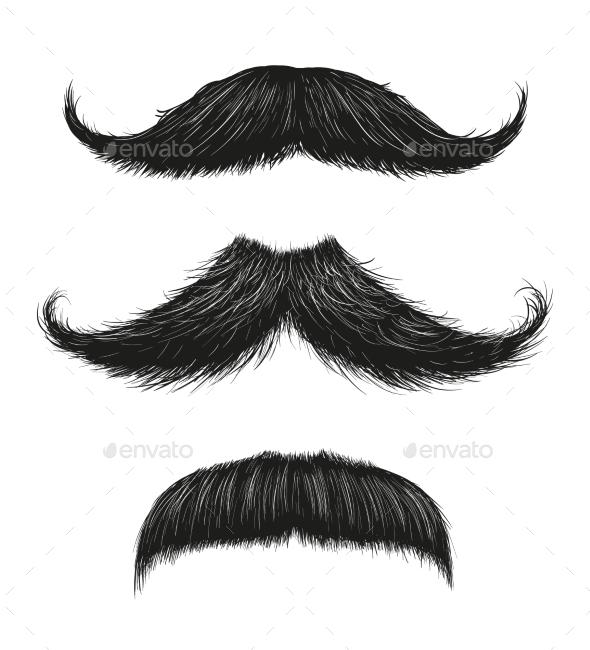Three Mustache Set - Miscellaneous Vectors