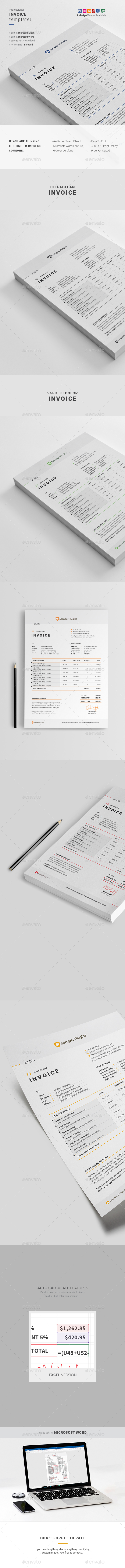 Invoice Template Graphics, Designs & Templates from GraphicRiver