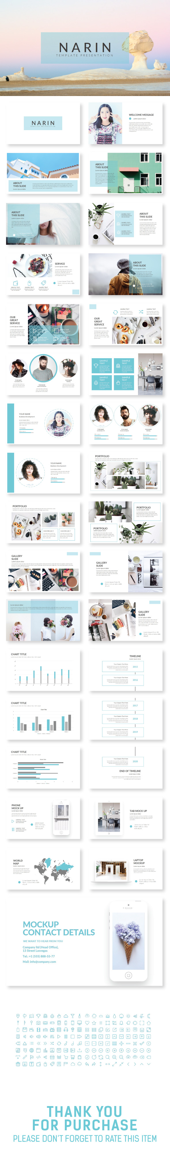 NARIN Keynote Template - Creative Keynote Templates