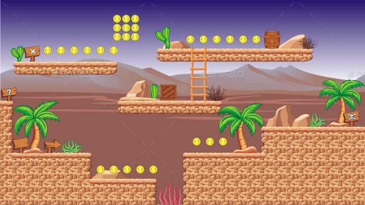 Desert - Platformer Tileset