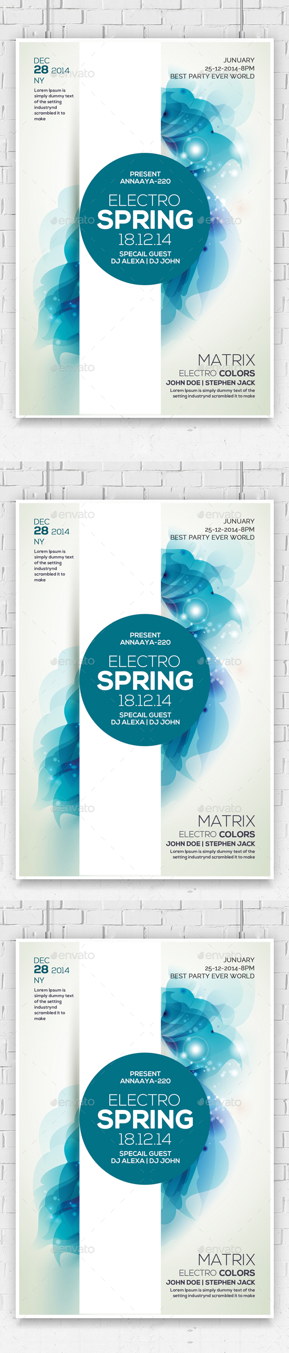 Electro Spring Nights Flyer - Flyers Print Templates