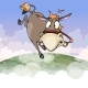 Cartoon Donkey Flying in the Air - GraphicRiver Item for Sale