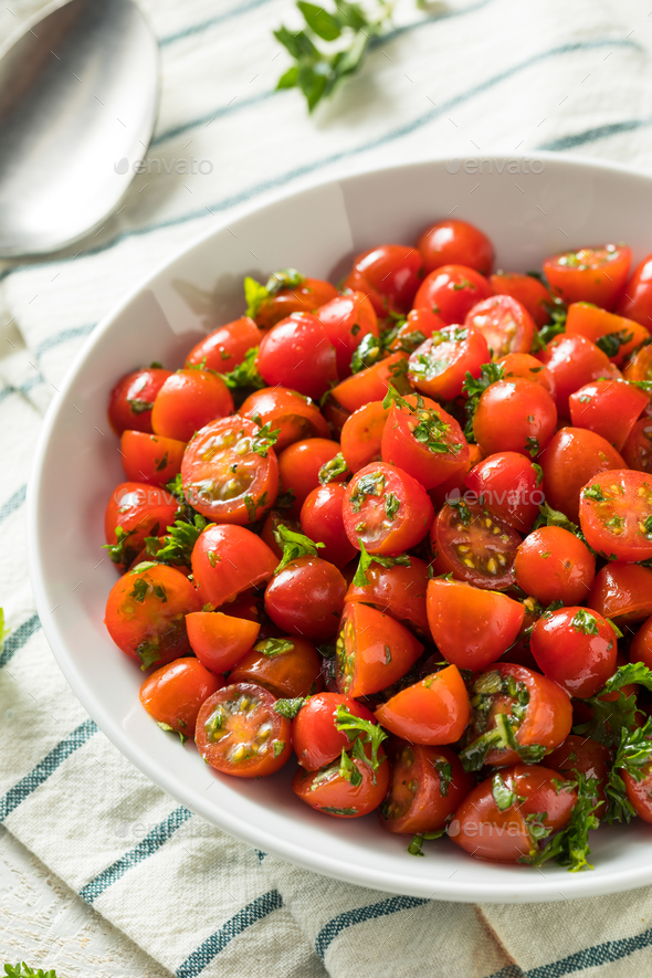 Healthy Homemade Cherry Tomato Salad - Stock Photo - Images